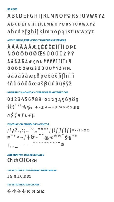 GlyphSet-Fontana-ND-SemiboldCondensed