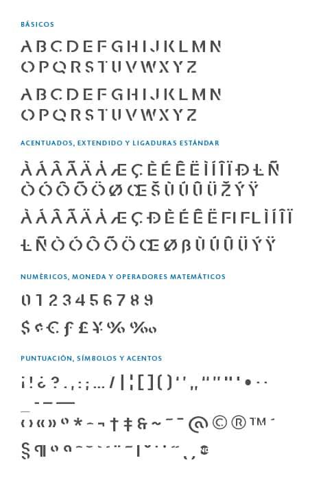 GlyphSet-Fracutra-ND-Bold
