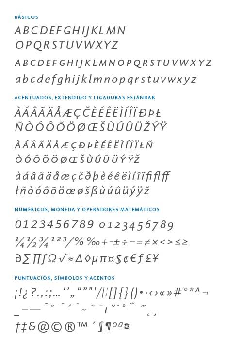 GlyphSet-Pragma-ND-RegularItalic