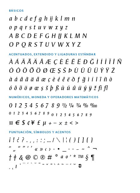 GLYPH SETS ND Grafia-Latina-Pascal-ND-Italic