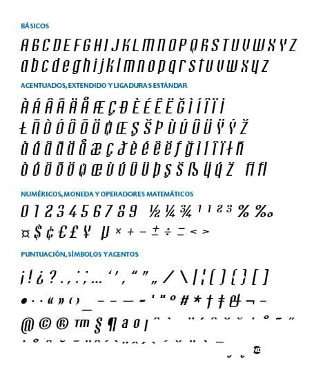GlypSet-Bravo-ND-Italic