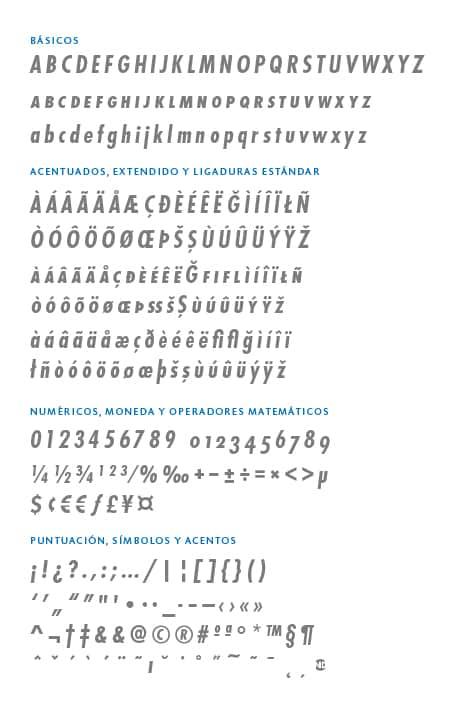 GlyphSet_Futura-ND_BoldCondensedItalic