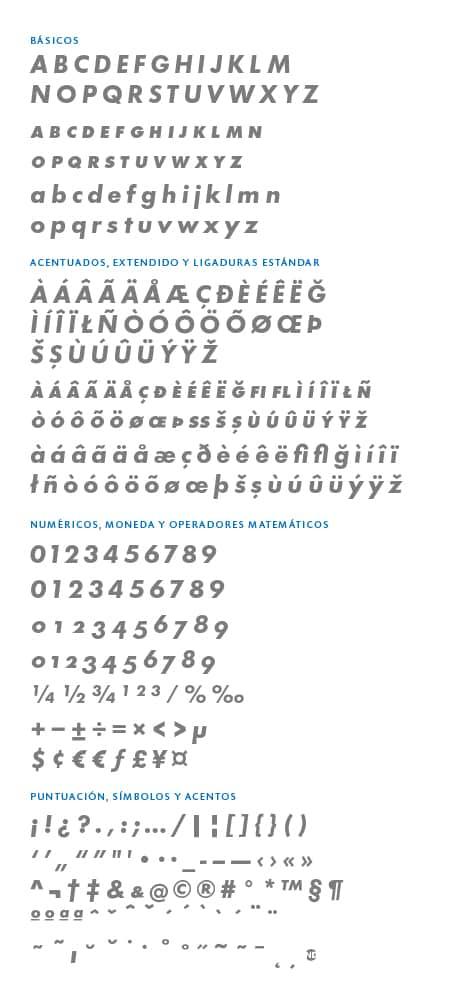 GlyphSet_Futura-ND_BoldItalic