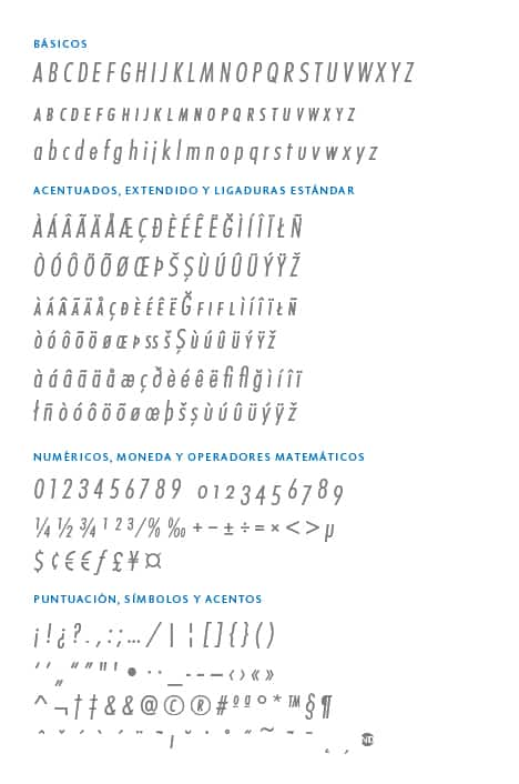 GlyphSet_Futura-ND_LightItalicCondensed