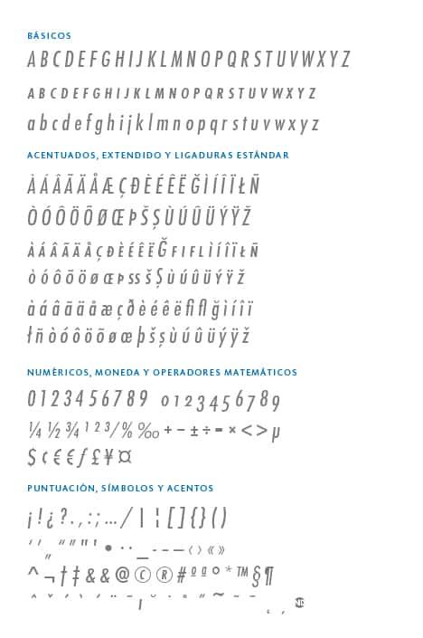 GlyphSet_Futura-ND_MediumCondensedItalic