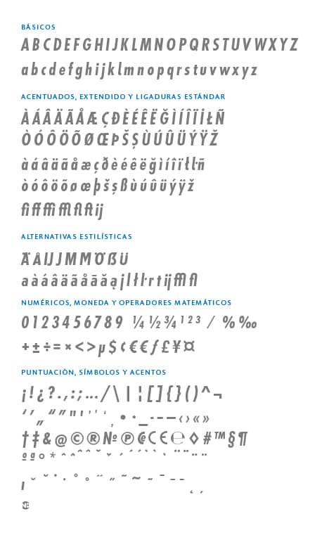GlyphSet_Futura-ND-Alt_BoldCondensedItalic