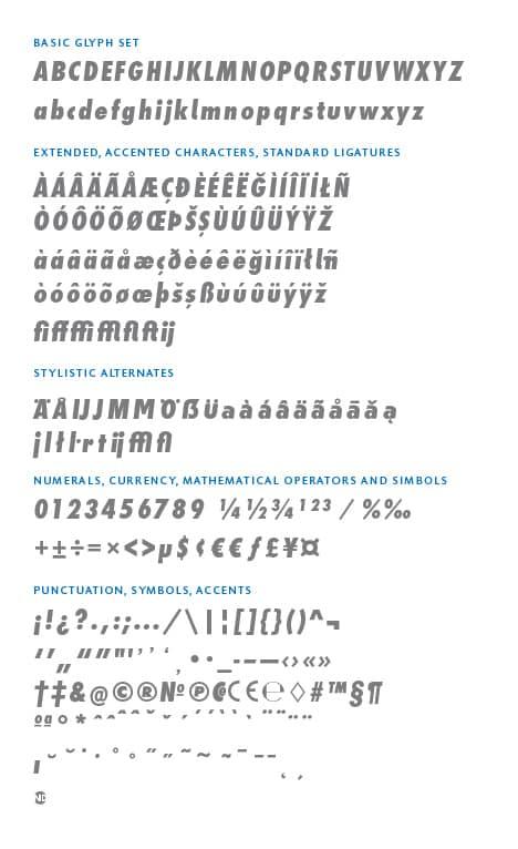 GlyphSet_en_Futura-ND-Alt_ExtraBoldCondensedItalic
