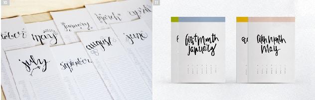 [1] Calendario diseñado por Lemon Thistle – [2] Calendario diseñado por Cocorrina